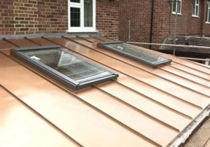 Copper Roofing with skylights