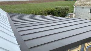Aluminium roof close up
