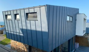 Greencoat PLX on outside of building