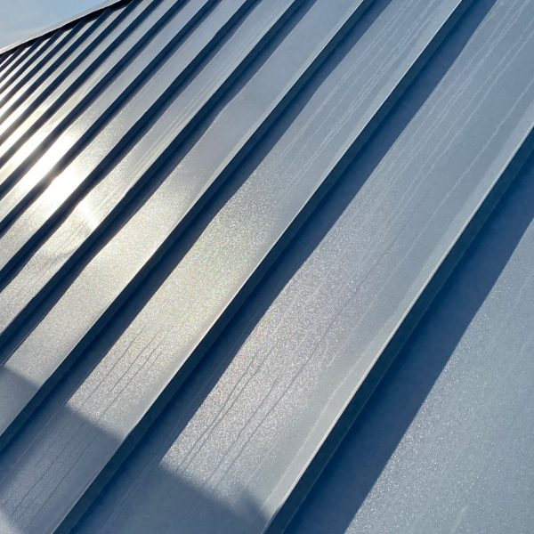 Zinc roofing close up